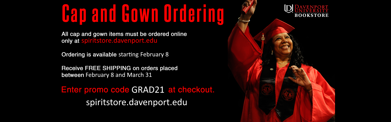 Buy grad gear here!