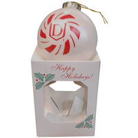 Ornament Boxed White Bulb