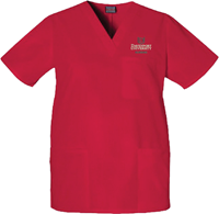 Scrub Tops Mens Red