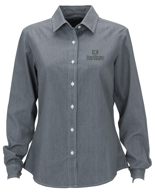Womens Gray Denim Shirts (SKU 1001148519)